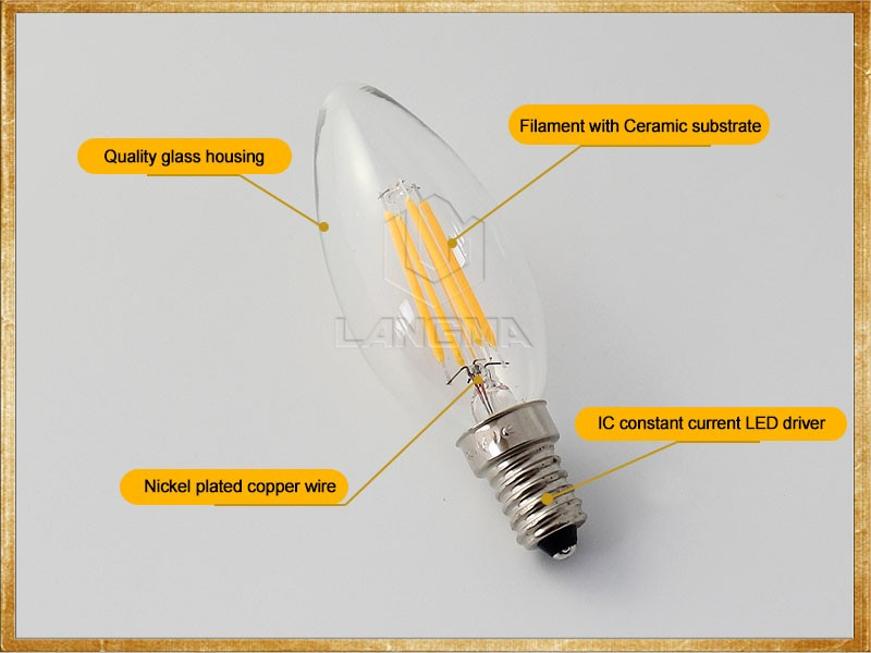 Filament Led E14 4w 3000k Led Retro Incandescent Vintage Light ...