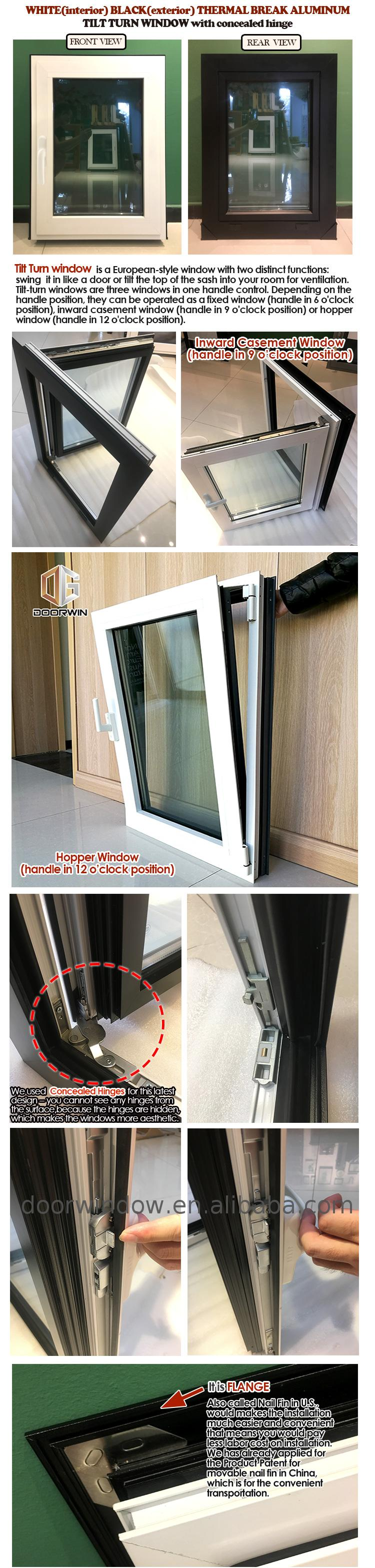 Double glazing window for house glazed aluminium windows doors
