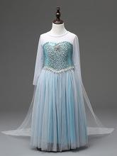 Varejo 2016 Elsa vestido feito sob medida Cosplay filme vestido de Anna vestido da menina princesa Elsa traje para crianças 3-8a