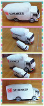 White soft plush truck toy lorry toy