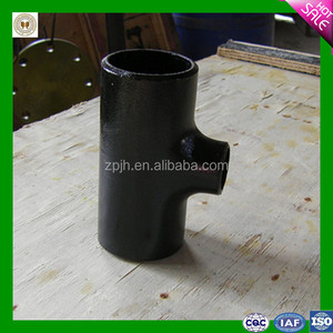 carbon steel pipe fitting eccentric reducing tee for pipeline