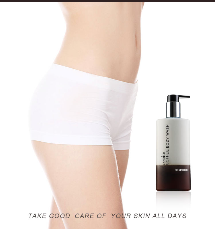 Skin Care Manufacturer Natural Deep Cleansing Moisturizing Coffee Body Wash for Women