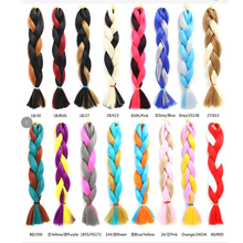 2018 New Wholesale Jumbo Braid , Ombre Synthetic Braiding Hair One Piece Synthetic Jumbo Braids