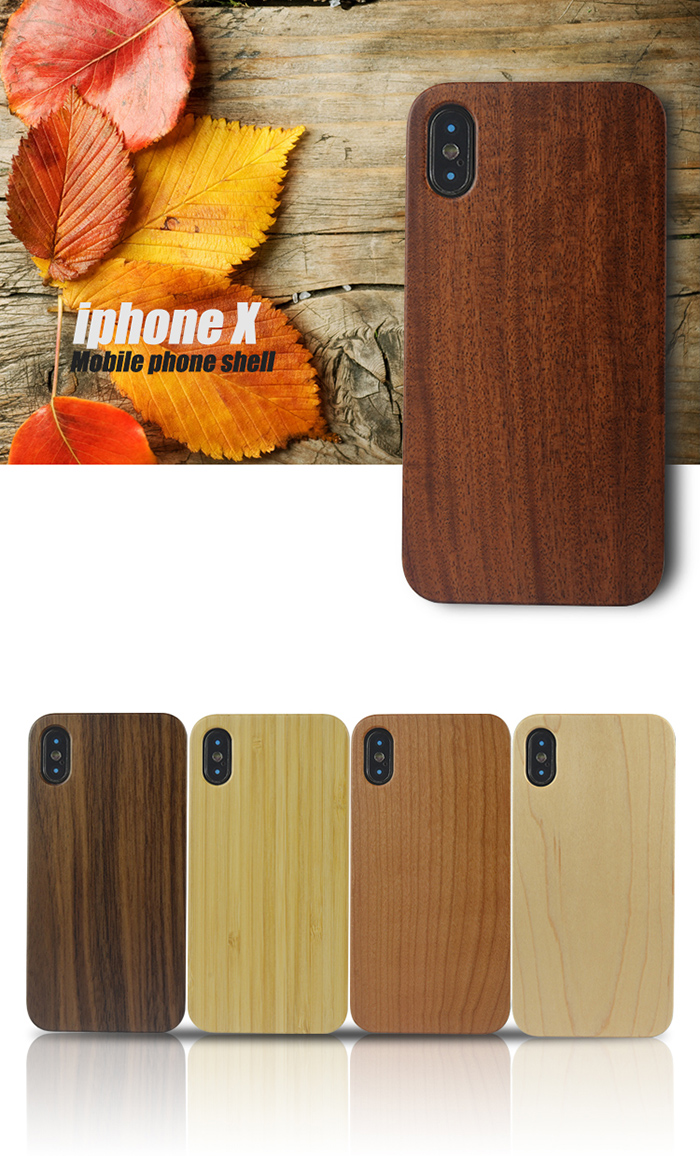 Natural Wood Book Mobile Phone Case Wooden Cell Phones Cover 6 6s 6splus 7 8 X Cases for iPhone for iPhone X Case for iPhone