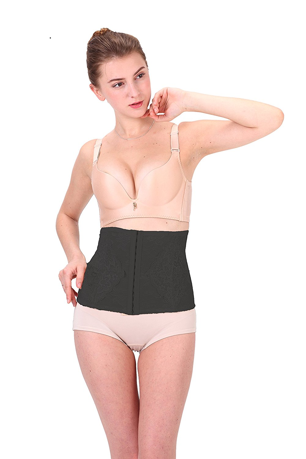 1bd3bea3f3 Get Quotations · MoDDeals Woman s Waist Trainer Tummy Control Shapewear  Smoothing Cincher Sexy Corset Girdle Wear Your Own Bra