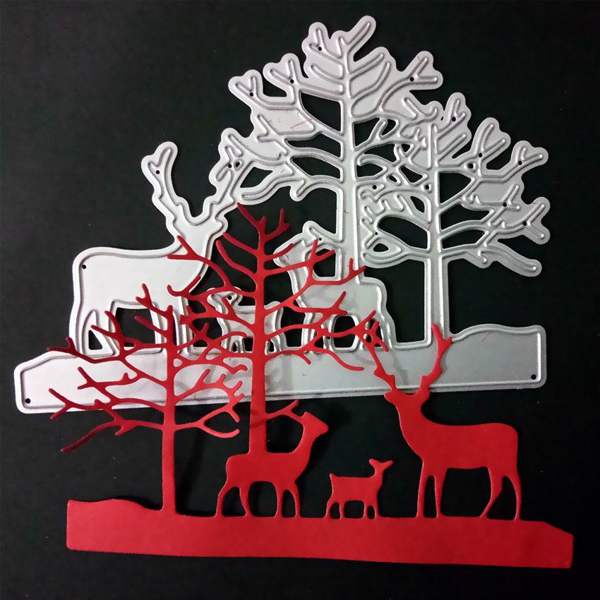 Janela flor veados corte morre animais molde diy aço carbono faca morrer para scrapbooking de papel