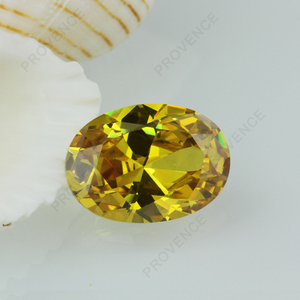6*8mm Yellow Cubic Zirconia Oval Cut