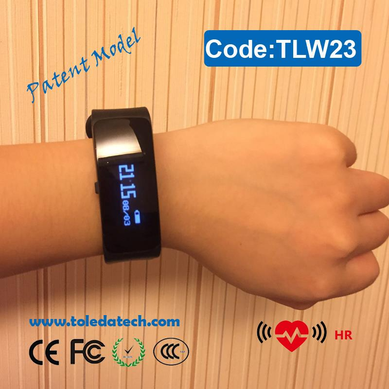 "2017 hot sales new calories tracker sleep monitor sport BT band 0.86"" OLED smart watch with APP developer"