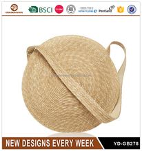 Fashion Simple Round Design Straw Shoulder Bag for Women