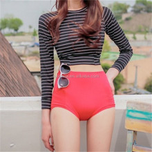 Long Sleeve High Waist Swimwear Suit Korean BeachWear Split Mode Swimsuit Two Piece Diving suits hot spring swimwear