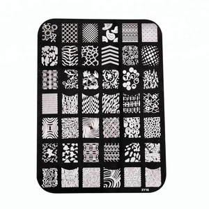 Custom Nail art stamping plates Different designs cute Nail art stamp rectangle Nail stamp plate