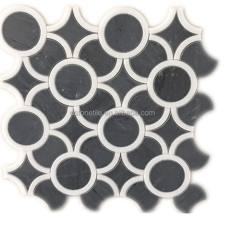 dark grey and white round design types of marbles with pictures