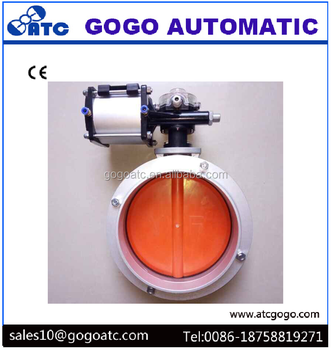SC air cylinder parts pneumatic butterfly valve