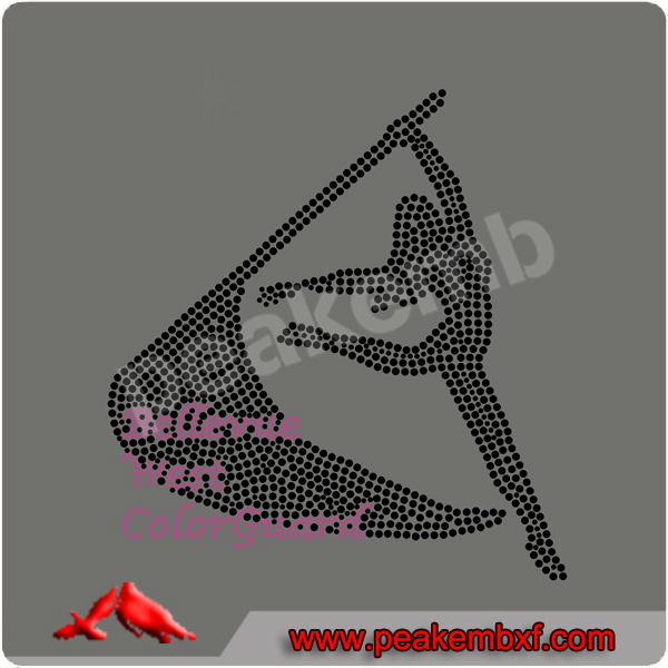 Hotsale Crystal Believe West Color Guard Heat Transfers Wholesale For T-shirt