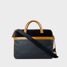 HD10074 Reshine Durable Canvas Handbag PU leather Handle Business Bag Men Briefcase