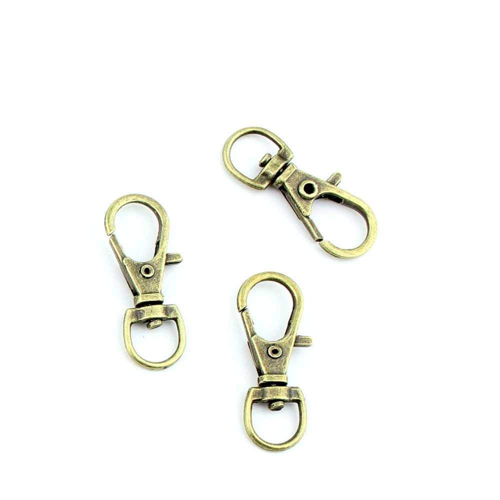 Baoblaze 3 Pack Trigger Snap Hook Solid Brass Swivel Clasp Lobster Claws Swivel Hooks Craft Findings