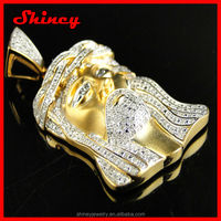 AAA cubic zirconia paved Jesus Christ fashion jewelry wholesale hip hop bling jewelry