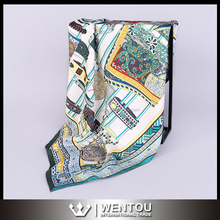High Quantity Printing Square 100 % Silk Scarf