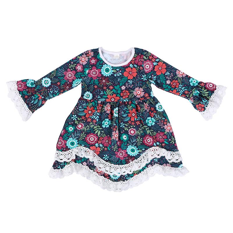 Europese stijl dromerige sprookje karakter afdrukken melk zijde baby meisjes prinses jurk
