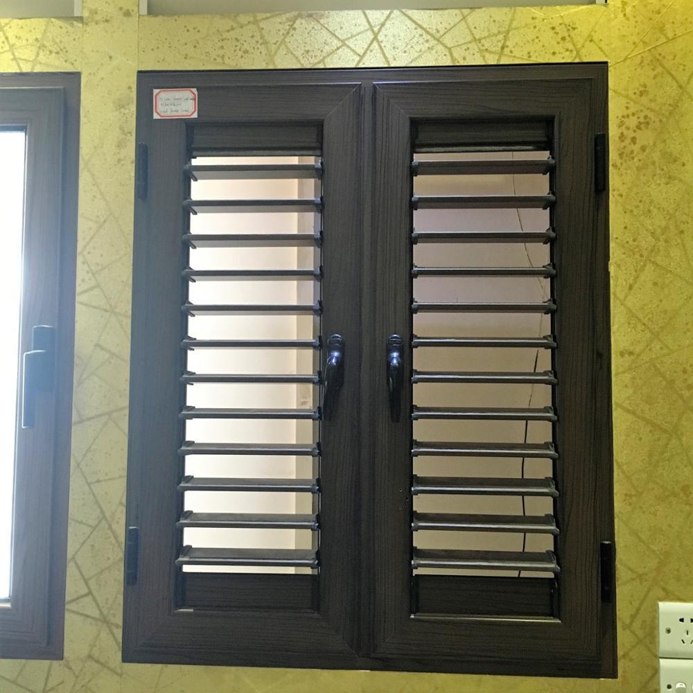 Aluminum wooden color jalousie casement window beautiful appearance aluminum windows Best windows and doors manufacturer & Aluminum Wooden Color Jalousie Casement Window Beautiful Appearance ...