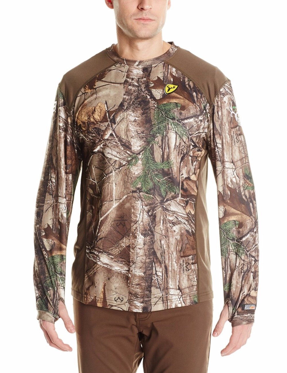 8a89f78aca899 Men Robinson Products Camo S3 Midweight Long Sleeve Top Clothes Camo Realtree  Xtra T Shirt Ghillie Suits