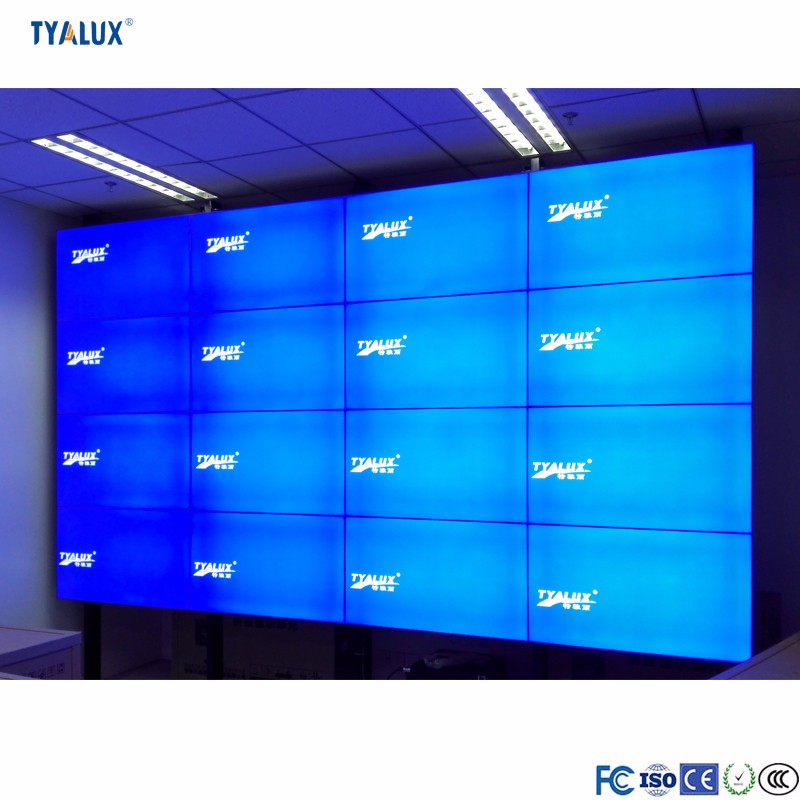 Popular big size best 55 inch high brightness seamless panel lcd video wall system for advertising display