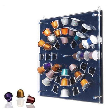 Clear Acrylic Freestanding Nespresso Capsule Storage Rack / Coffee Pod  Holder Display Stand
