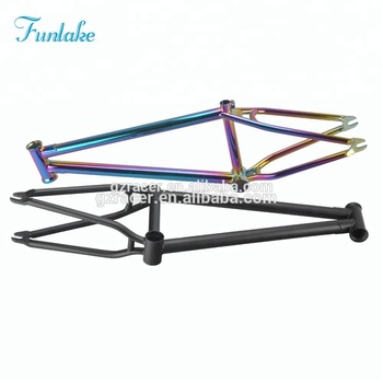 Factory direct sale new design custom 20 inch freestyle street bicycle frameset chromoly bicycle frame BMX frame
