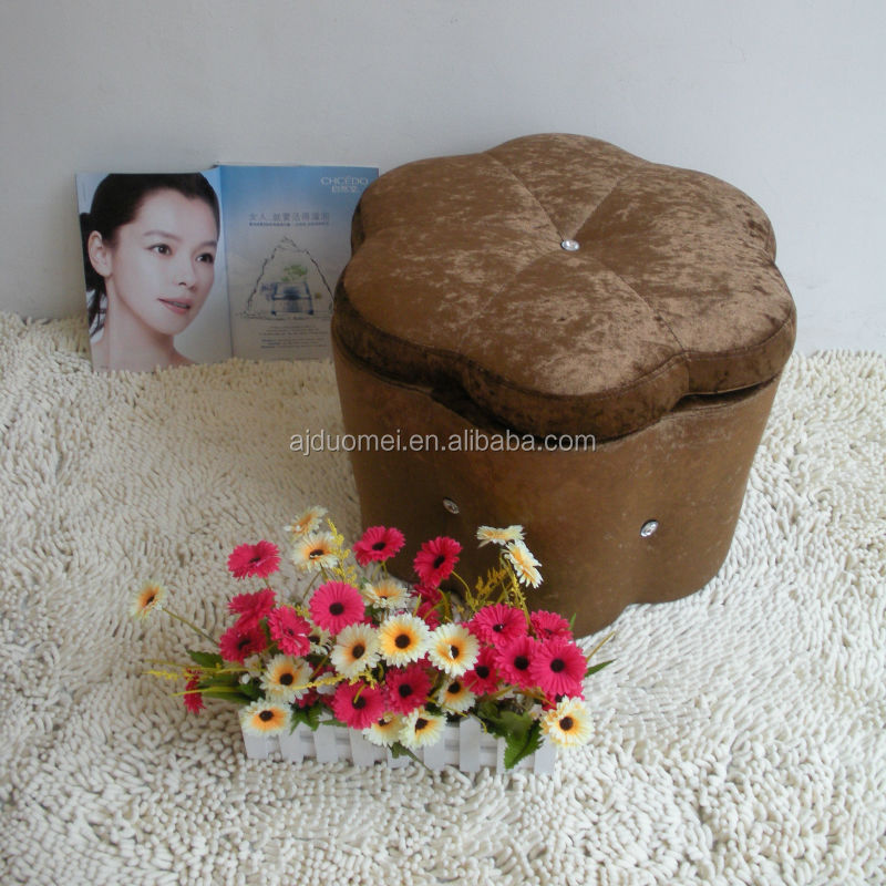 New Designing Faux Leather Storage Ottoman with ABS frame DM-303