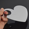 Professional Heart-shape Stainless Steel Nail Art Makeup Cosmetic Mixing Palette