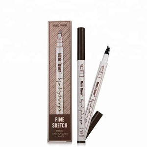 Music Flower Eyebrow Pencil Tattoo Waterproof Long Lasting Permanent Liquid Eyebrow Pen