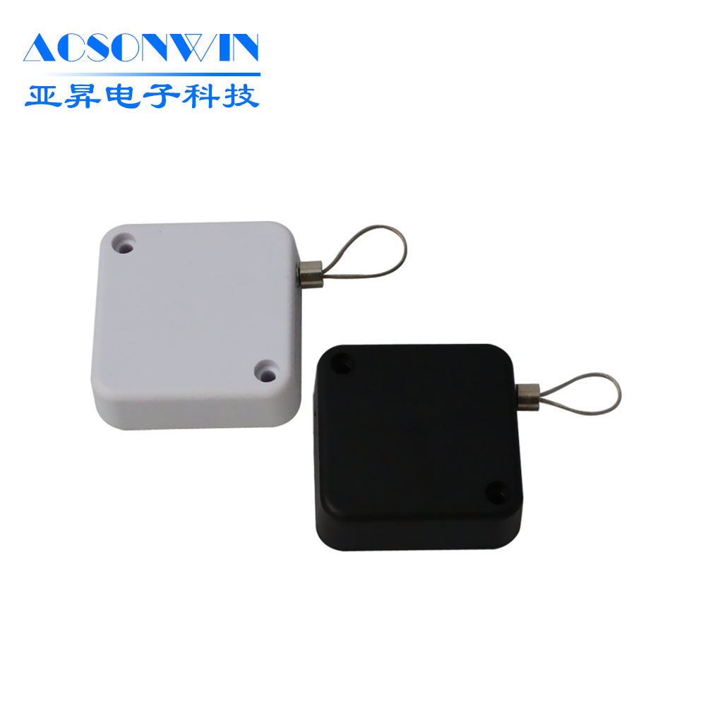 Display merchandise recoilers, plastic retractable anti-theft pull box for watch