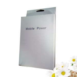 Paper hang tab small mobile power packaging box