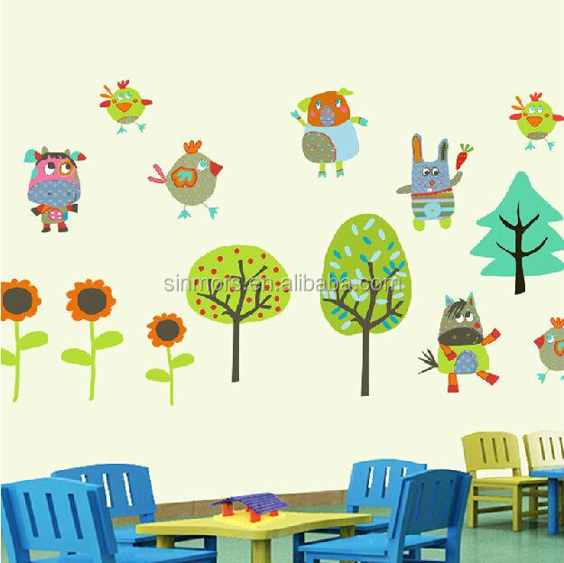 Zarte Farben Vögel,Huhn,Kühe,Sonnenblumen,Baum Wand Dekoration Aufkleber  Kinderzimmer Wandtattoos Cartoon Kinder Wandaufkleber - Buy Kinder ...