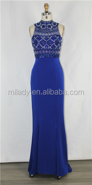 New design beautiful beading two- piece prom & evening dress