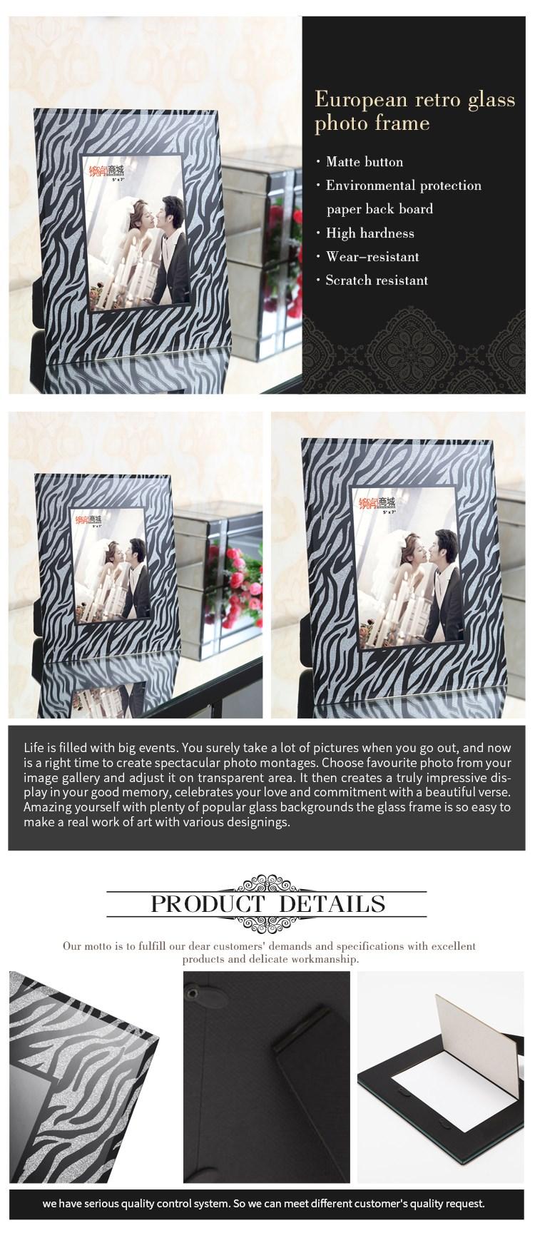 Rectángulo de cristal de pie foto marco fabricante-Marco ...