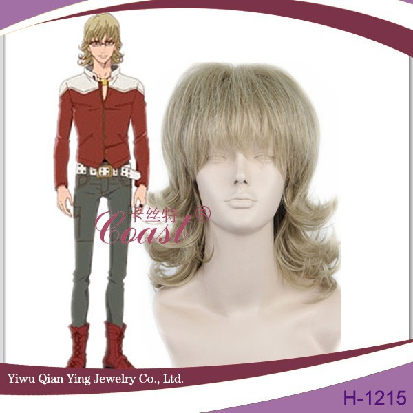 curly brown Short Tiger&Bunny Barnaby Brooks Jr. cosplay hair wig