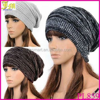 Hot Fashion New Unisex Mens Womens Winter Knit Plicate Slouch Cap