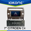 "2005-2009 factory 7"" HD Touch screen wince car dvd for citroen c4 with TMC, camera, mic, dvb-t"