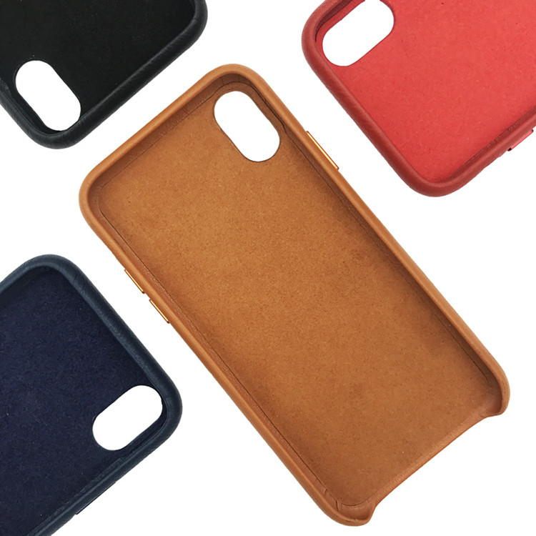 Handcrafted Genuine Leather Phone Cases Simple Pebbled Leather Phone Case
