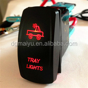 Laser Rocker Switch Red Lights LED On-Off 5 Pins 12V 20A Truck Car UTV With CE Certificate