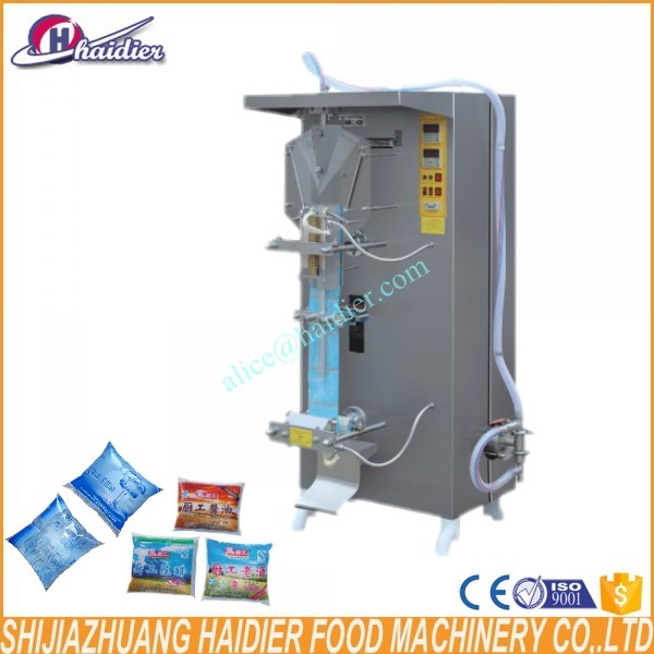 Haidier stainless steel industrial automatic pure water sachet filling machine liquid filling packing machine
