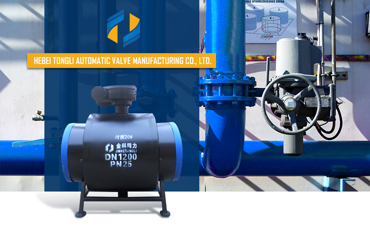 weld end PN25 DN300 WCB material worm gear operated full bore all welded ball valve