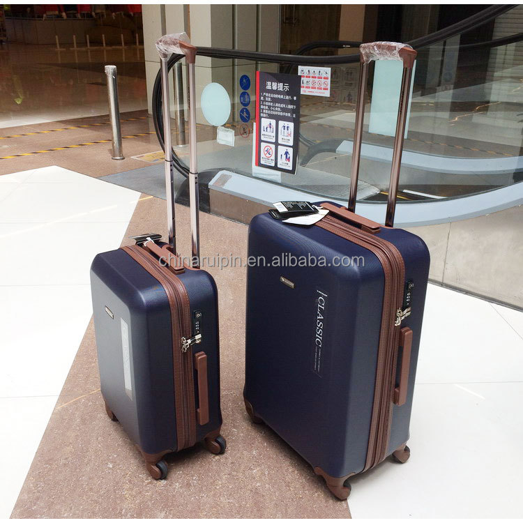 Navy Blue ABS Trolley travel luggage universal wheel suitcase color luggage with lock carry on cabin luggage bag