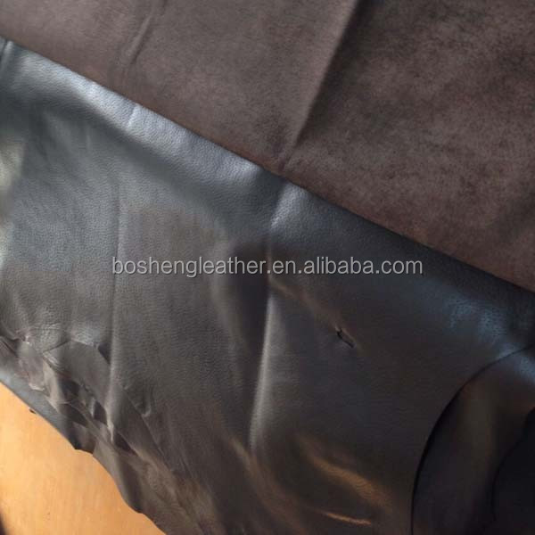 HOT SALE GENUINE GLAZED PIG LINING LEATHER