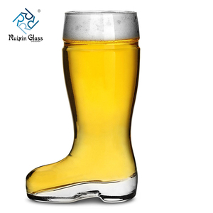 B02 Hot Selling Custom Horn 1 Litre Tulip Beer Glass Mug Boot