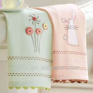 quality embroidery lace face towels exquisite 100% cotton