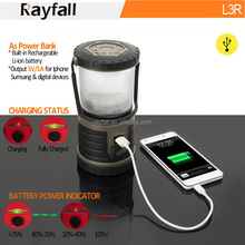 Led protable hand crank rechargeable camping lantern flashlight for emergency