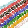 Wholesale heart bead glass beads millefiori murano glass for bracelet making