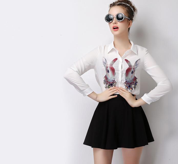 Buy 2015 Mini Skirts For Plus Size Women Preppy Style Flared Black